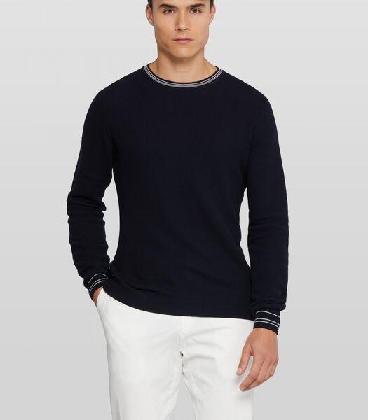 Effen pullover Crespin met getipte details