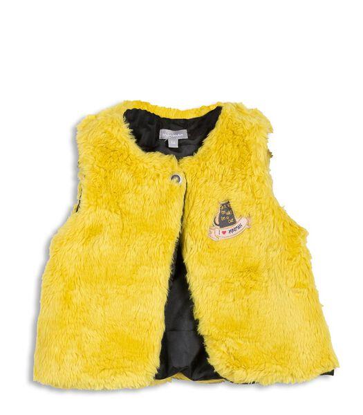 Set met 3 stuks: t-shirt, vest en rok met ruches