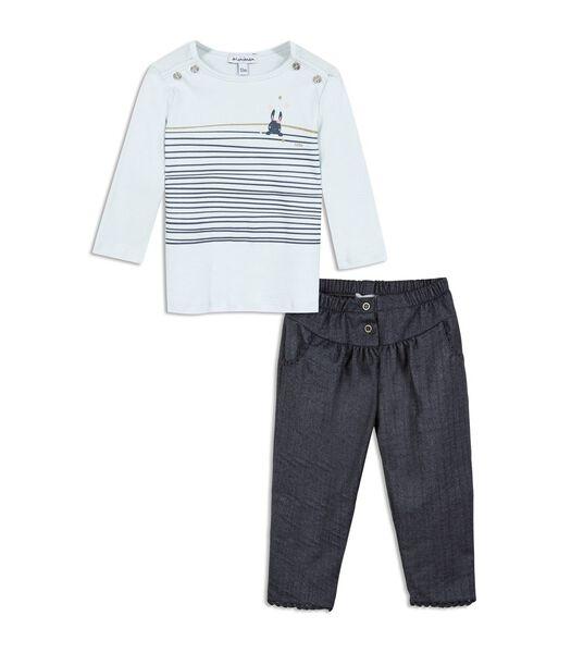 2-delige t-shirt en broek set