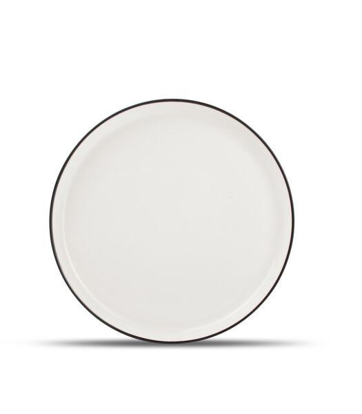 Assiette plate 19cm blanc Studio Base - set/4