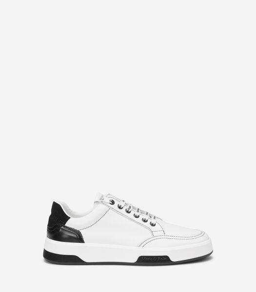 Duurzame sneakers met two-tone loopzool