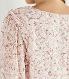 Lange mouw V-hals bloes met bloemenprint YOLANDA image number 2