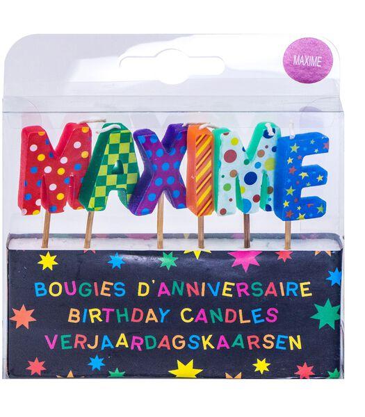 Bougies d'anniversaire prénom Maxime