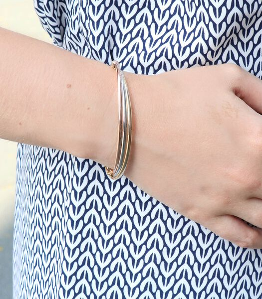 Bracelet tricolore 9 carats