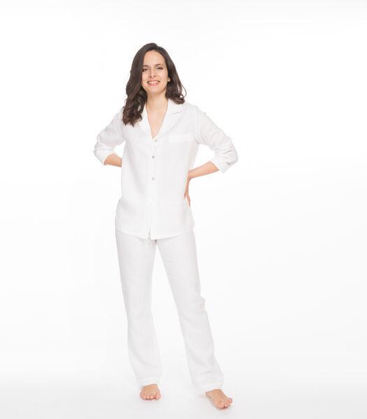 Pyjamajasje en broek zuiver linnen, LUCIE
