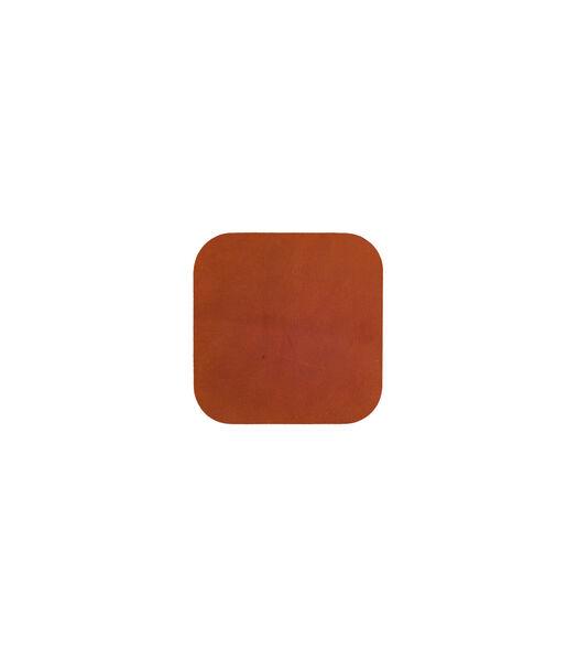 ELLIS sous-verre carré cognac