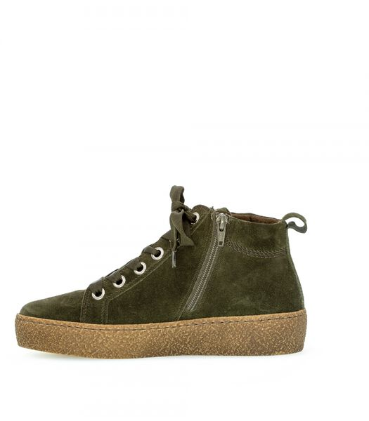 Sneakers plat veloursleer