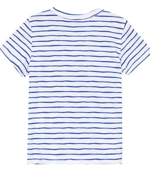 T-shirt rayé manches courtes avec motif