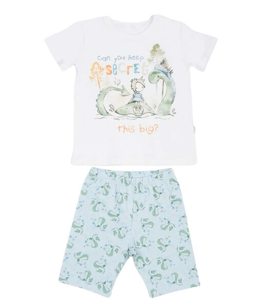 Zomerpyjama voor jongens van biologisch katoen DINO