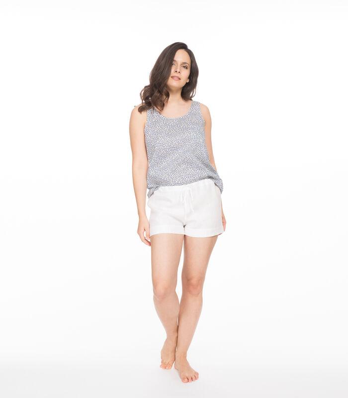 Katoenen popeline homewear tanktop met image number 2