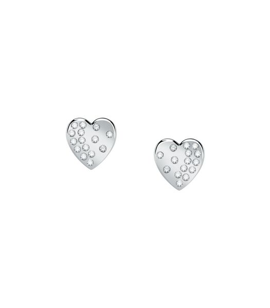 Boucles D'Oreilles en acier, cristaux PASSIONI