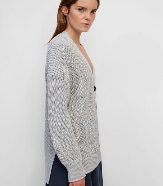 Vest met V-hals gebreid van garen van organic cotton