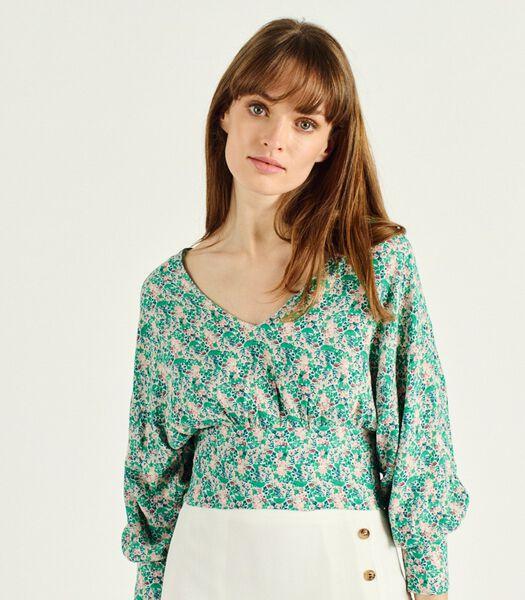 BATISTA gebloemde V-hals blouse