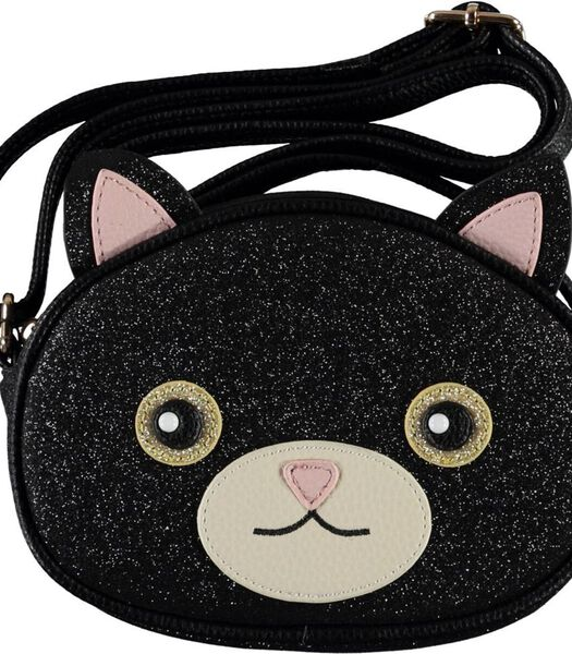 Kattentas zwart glitter