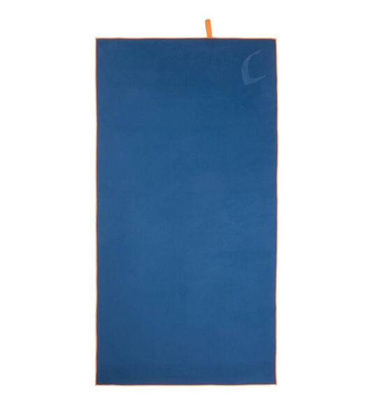 Set de serviettes 2 pièces microfibre bleu