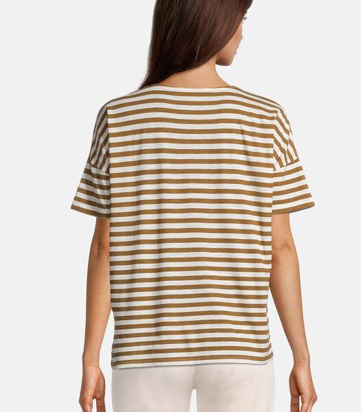 Gestreept shirt Korte mouwen