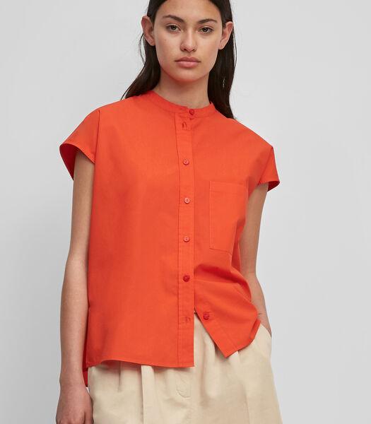 Oversized blouse van katoen-popeline