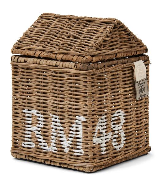 Boîte à mouchoirs RM 48 en rotin rustique