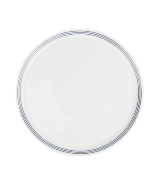 Assiette plate 26cm gris Stripes - set/6