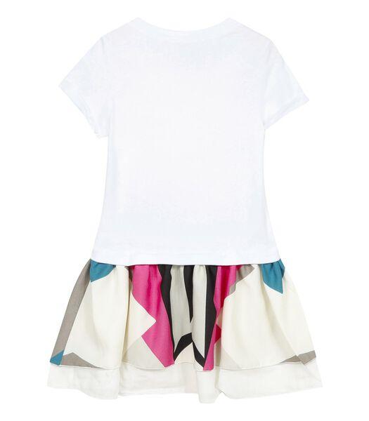 Tweedelig jurk met korte mouwen