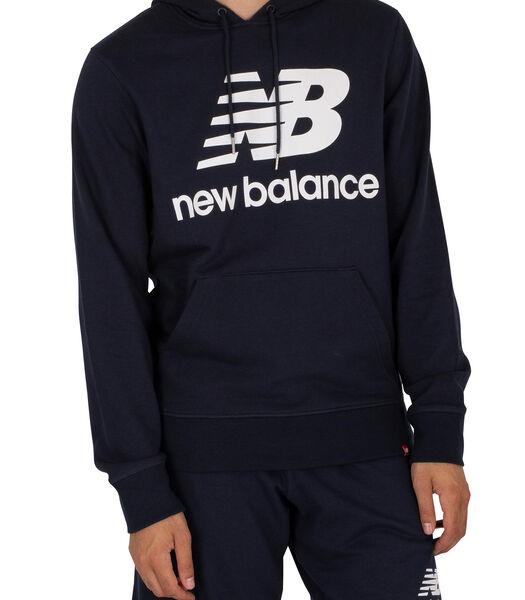 Essentials hoodie met gestapeld logo