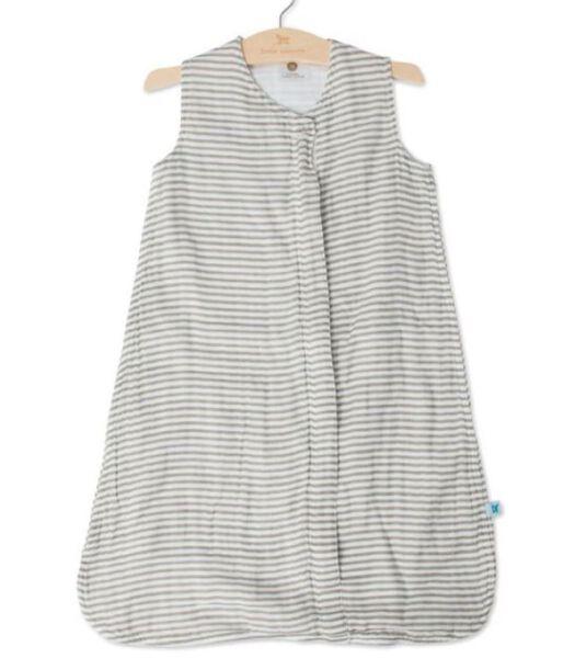 Katoenen Mousseline Slaapzak -  Grey Stripe - (XL)