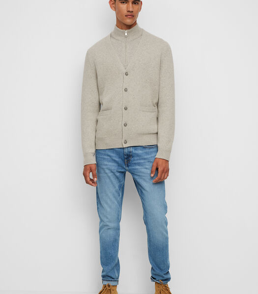 Vest Van een mix van lamswol en katoen