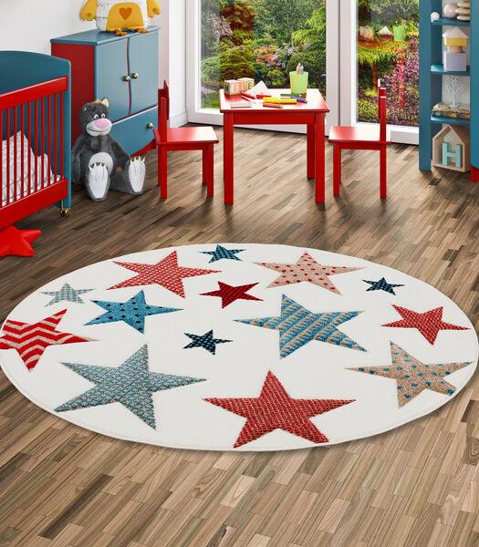Maui Kids - Tapis pour enfant rond - motif étoiles