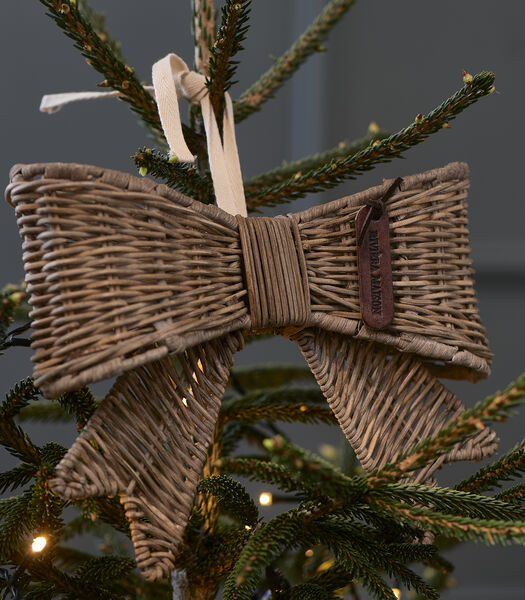Rustic Rattan Jacky Bow Tree Topper