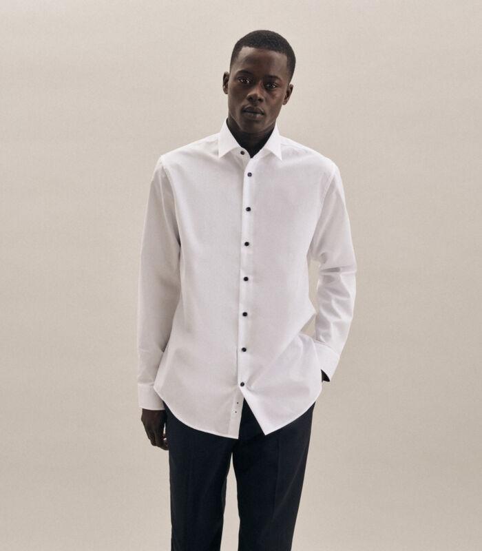 Overhemd Shaped Fit Lange arm Uni image number 0