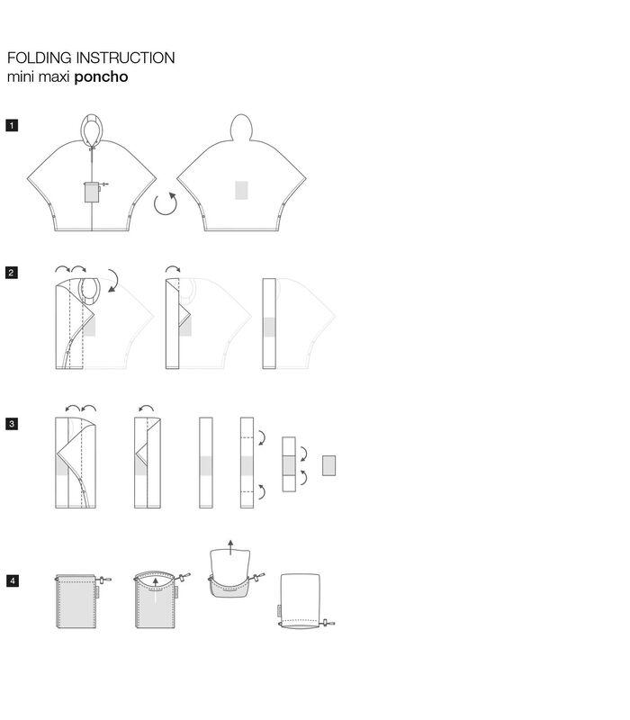Mini Maxi Poncho - Regenponcho - Paisley Ruby Rood image number 4