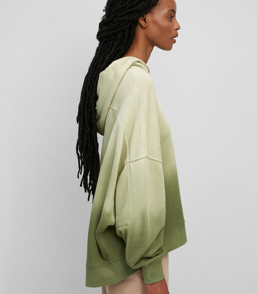 Dip-dye hoodie van organic cotton