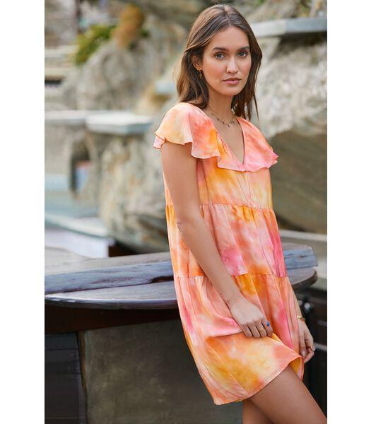 Zijden jurk imprimé AURORE