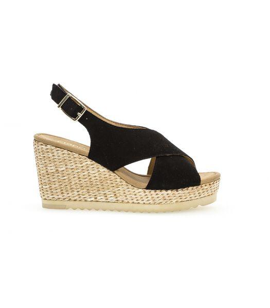 Sandales Noir en daim