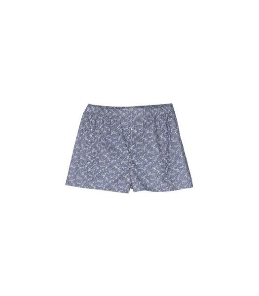 Homewear korte broek in katoen met kleine tijgerprint