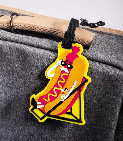 Étiquette pour bagage - Hot dog