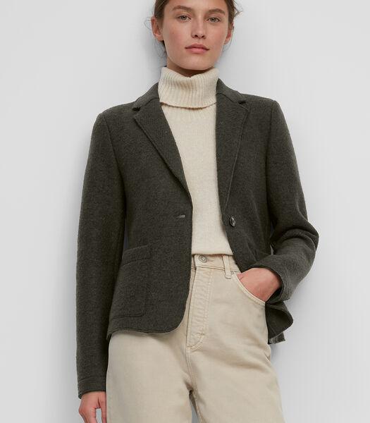 Jersey blazer van gekookte wol