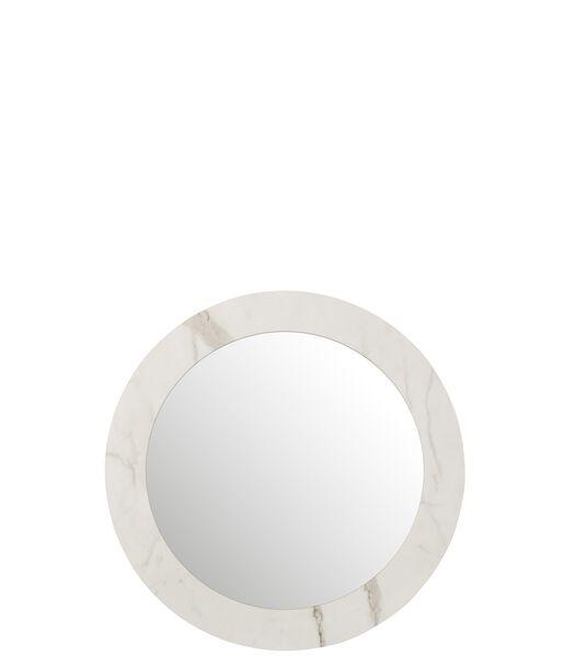 Miroir Marbre Mdf/Verre Blanc Large