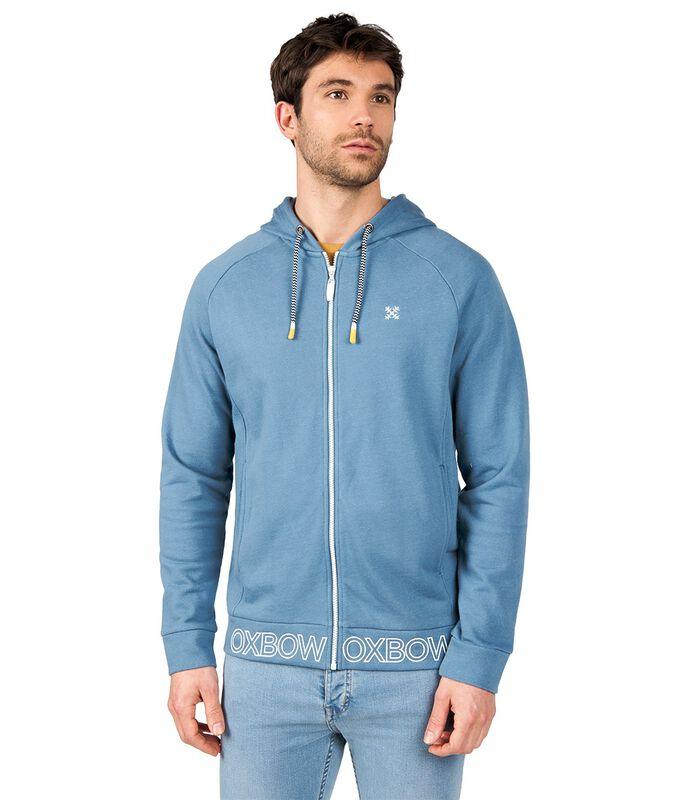 Sweater met kap en rits STARI image number 0