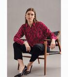 Shirtblouse Print Lange mouwen Kraag image number 4