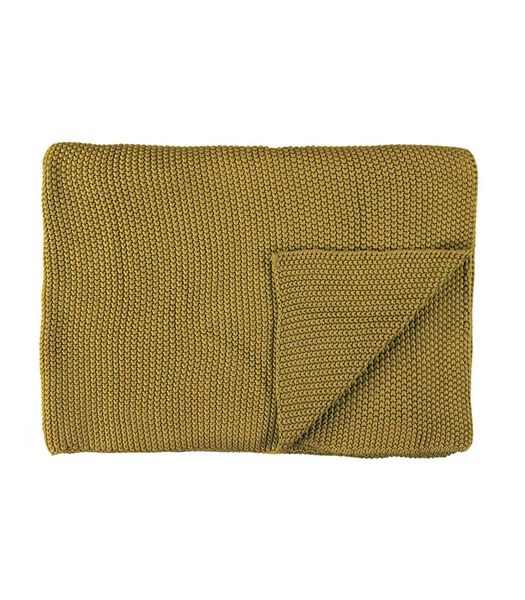NORDIC KNIT - Plaid - Oil Yellow