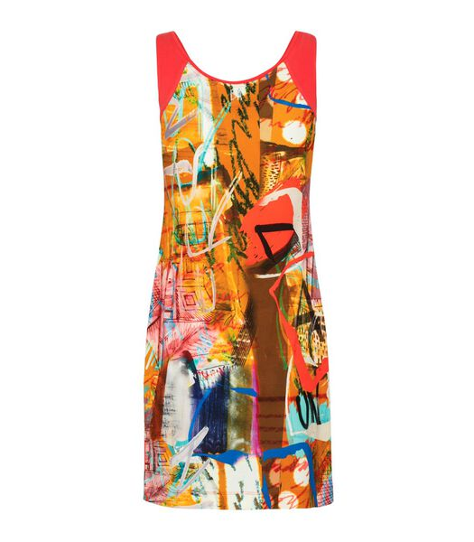 Artistieke print jersey jurk KLEIN