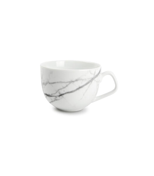 Kop 22cl en schotel marble Stone - set/4