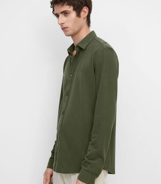 Jersey overhemd met lange mouwen van piqué