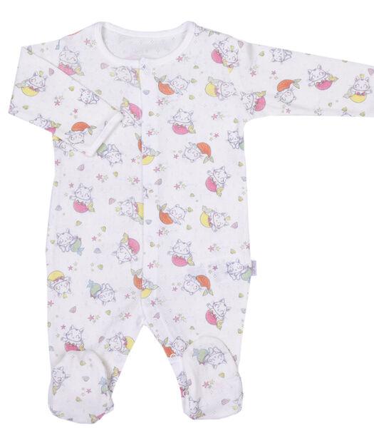Pyjama bébé en coton bio, MIAOU