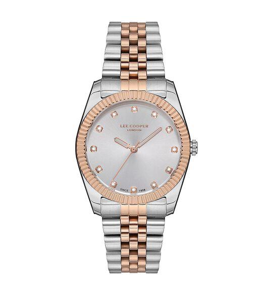 Analoog horloge met metalen armband en strass-index JODY