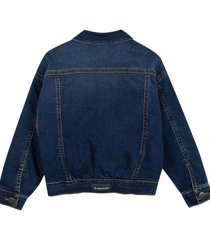 Denim jas met geborduurde badges image number 1