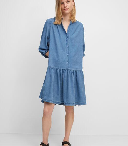 Denim jurk van zuiver katoen