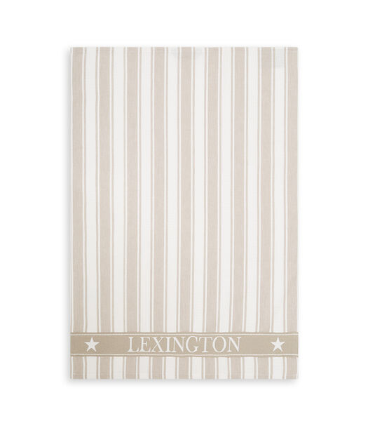Icons Cotton Twill Waffle Striped Kitchen Towel