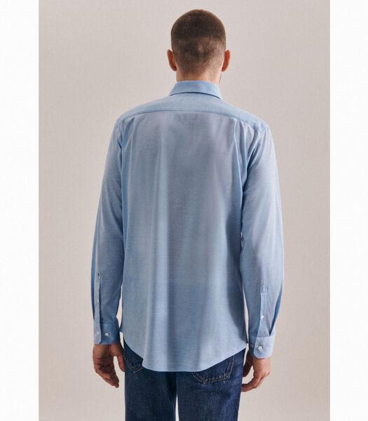 Jerseyhemd Regular Fit Lange mouwen Uni